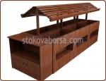 Изработка на дървени стелажни конструкции за плодове и зеленчуци